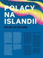 """Wystawa - """"Polacy na Islandii"""" - Plansza 1"""